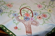 hand embroidered towel