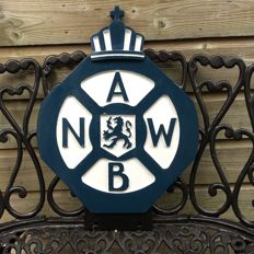 "Large, heavy ,,A.N.W.B"" sign from the 1950s"