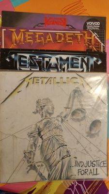 Lot of Lp´s : 1.Metallica - And justice for all 2.Testament - The new order 3. Megadeth - Peace sells...but who´s buying? 4.Voivos - Dimension hatröss