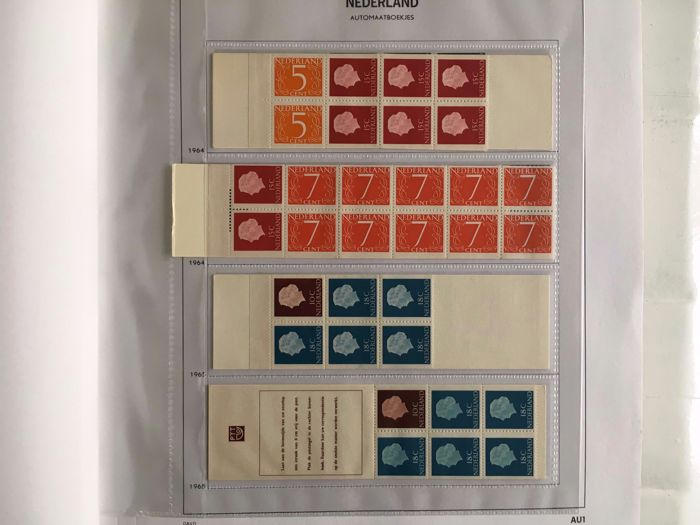 The Netherlands 1964/2000 – complete collection of stamp booklets between PB 1 and PB 63