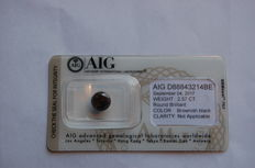 2.57 ct diamond - round brilliant - brown-black - clarity not applicable on certificate