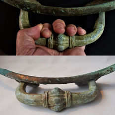 Ancient bronze Handle - 450 mm the handle only  185 x 100 mm