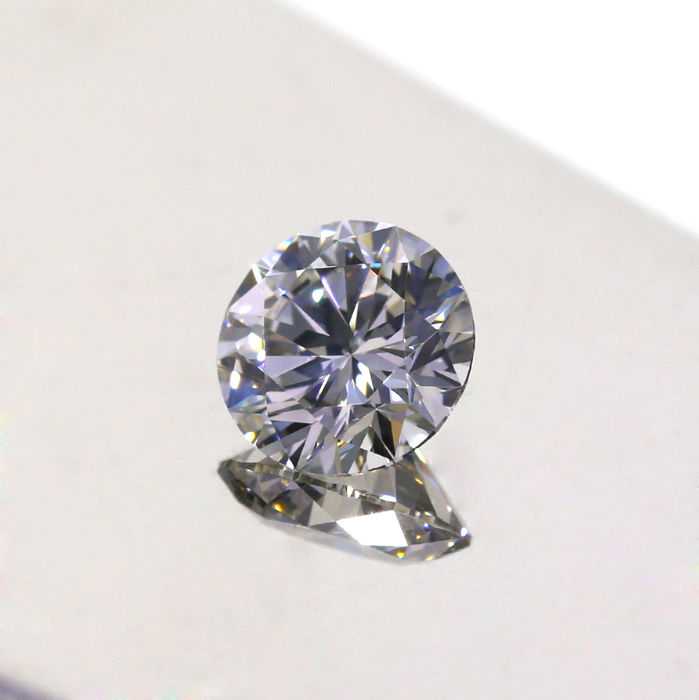1.02 Natural Faint Gray VS2 Round Brilliant cut diamond, GIA.