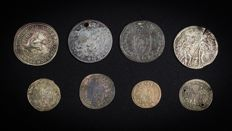 France - Lot of 8 tokens from Nuremburg 17th century