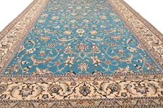 Hand-knotted Persian carpet - Nain 6La with silk - signed - approx. 249 x 155 cm - Iran