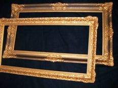 Two large antique picture frames, first half of the 20th century