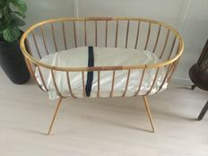 Rattan Cradle — 70 Years — including Mattress & Blanket covers