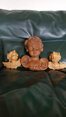 Lot of 3 angels, 2 small and 1 large