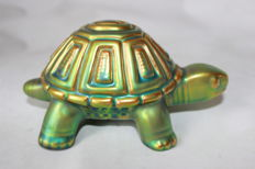 Zsolnay Hungary - Eosin glazed turtle