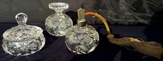 3-piece Bohemia Art Deco toilet set, 24% crystal