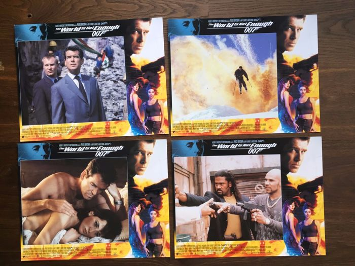 James Bond The world is not enough 12 x Lobby Cards USA 1999 Pierce brosnan Sophie Marceau