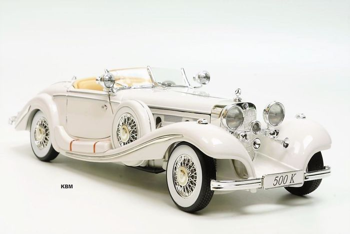 Maisto - Scale 1/18 - Mercedes-Benz 500 K Special Roadster 1936 - White