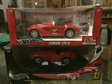 Hot Wheels - Scale 1/18 - Ferrari 166 MM Barchetta & Ferrari 125 S