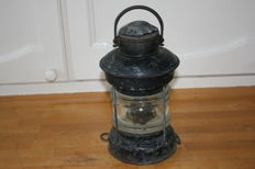Old Dutch galvanized anchor light with original oil burner.