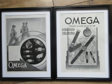 Omega Original Printed Advertisement Posters - 1930 & 1933