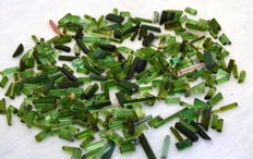 Top Green Touramline Crystals Lot - 353ct