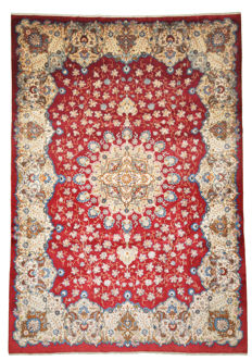 Hand-knotted Persian carpet - Kashan, approx. 400 x 278 cm - Iran