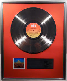 "Earth , Wind and Fire - All 'N All - 12"" CBS Record platinum plated record by WWA Awards"