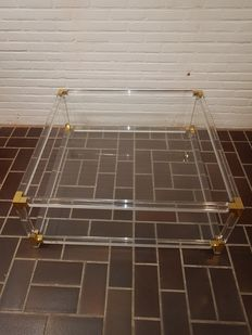 Producer unknown - vintage  coffee table in Hollywood Regency style