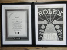 Rolex Original Printed Advertisement Posters - 1931&1937