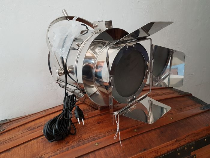Large movie studio projector lamp with shutters