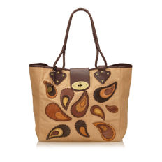 Mulberry - Embroidered Canvas Bag
