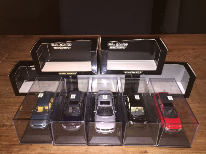 Minichamps - Scale 1/43 - Lot with 5 models: 4 x Audi & 1 x BMW