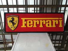 Ferrari - Unique Big Logo carved in wood - 101 x 33 cm