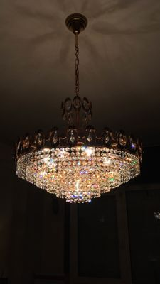 Large Crystal Chandelier - 1970s