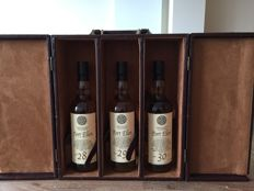 3 bottles - Port Ellen Leather Case :  Set 28, 29 & 30 years old - Old Bothwell