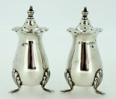 Pair of Sterling Silver Salt and Pepper - Joseph Gloster Ltd - Birmingham - 1916