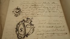 Manuscripts; antique documents of noble families - Period 1720/1880
