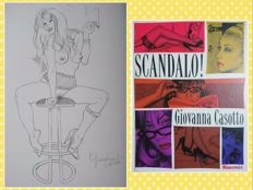 "Casotto, Giovanna - volume "" Scandalo! "" + original drawing ""Pin Up"" (2017)"