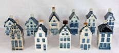 11 KLM Delft Blue Business Class houses - Rynbende and Henkes - incl. the house of Mata Hari.