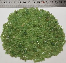 Finest quality Extremely Rare Green Dematoid Garnet Crystals lot - 400 Cts