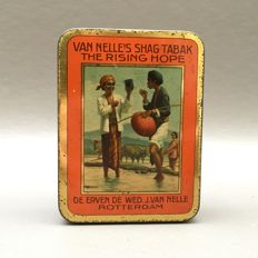 Very rare 'Van Nelle Tembaco, Njang Paling Baik' can - The Netherlands, 2nd quarter of 20th century.