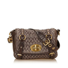 Miu Miu - Gathered Leather Shoulder Bag