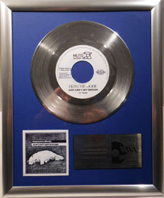 "Depeche Mode - Just can't get enough -  7"" Mute Records platinum plated record by WWA Awards"