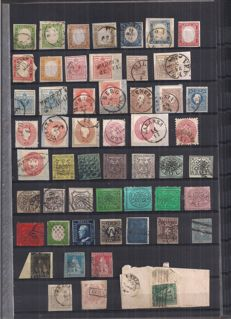Historic States of Italy 1850/1868 - selection of stamps, 53 specimens