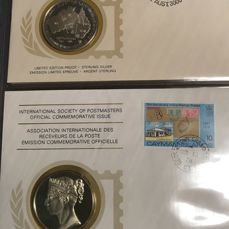 World - collection of the International Society of Postmasters with silver medals.