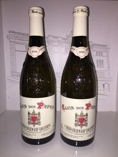 2016 Chateauneuf du Pape white Clos des Papes - Paul Avril x 2 bottles