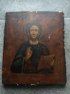 Russian icon of Christ Pantocrator - second half of the 19th century