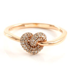 14k Rose Gold Ring  - 0.25 ct Diamonds -  Size - 7.5   *No reserve*