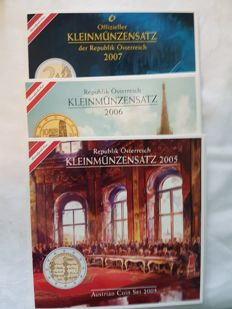 Austria – Official divisional coins from 2005, 2006 and 2007 – 24 coins