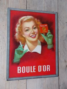 "Very rare advertising ""boule d'or"" of cardboard, 1950s"