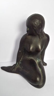 Decorative; Figurine of shapely mermaid - late 20th century