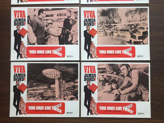 James Bond You only live twice 8 x Lobby Cards USA 1971 Sean Connery