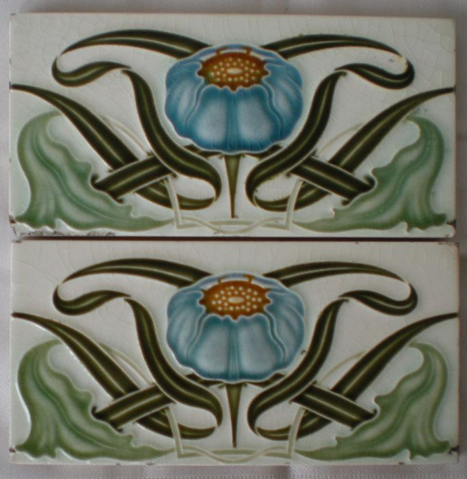 Helman - 2 Art Nouveau edge Tiles