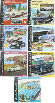 7 x Schrader-Motor-Chronicle - Mercedes and Automobil-classic