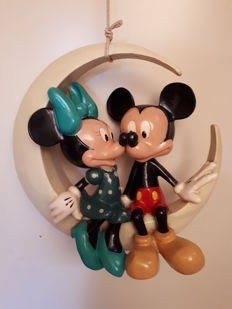 Disney, Walt - Figure - Mickey & Minnie Mouse on the moon (1980s)